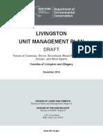 New York Department of Environmental Conservation's 2019 Livingston Unit Management Plan