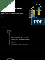 SAP OData Service Development Options - ABAP RESTful Programming Model