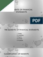 Module 5 - Elements of Financial Statements