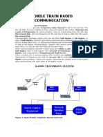 Mobile train radio communication