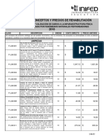 Catalogos de Precios de Conceptos 2018 INIFED