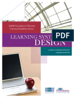 Learning System Design