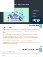 CRM Ethical Issues