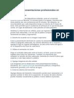 Consideraciones de diseño de una presentacion