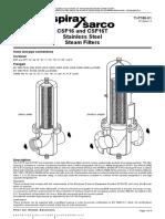 Spirax Sarco Clean Steam Filter