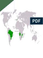 Cartina paesi lusofoni