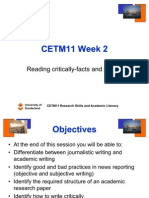 Lecture 2a Reading Critically 1