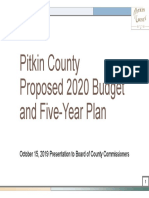 Pitkin County Proposed 2020 Budget and Five-Year Plan