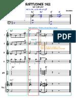 Sustituciones Jazz - Partitura Completa