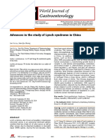 Advances in the Study of Lynch Syndrome in China (1)