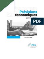 Rapport de Prévisions 2019-2020 de l'APCHQ