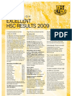 2009 HSC Results