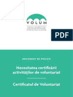 Certificarea activitatilor de voluntarit