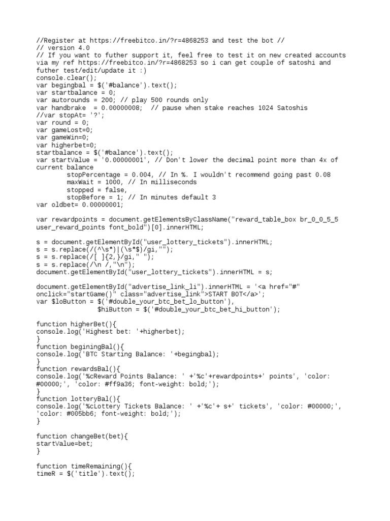 licensed script FreeBitcoin 10000 Roll.txt