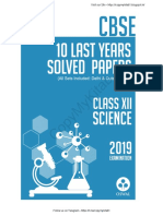 10 Last Years Solved Papers - Science_ CBSE Class 12 for 2019 Examination
