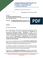 Carta - De Vicente Constructora SAC