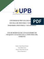 Uso de Cráqueo Catalítico en La Industria Del Cemento