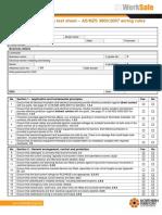 Compliance Inspection Test Sheet