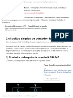 2 Circuitos Simples de Contador de Frequência _ Projetos de Circuito Caseiro