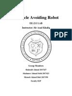 Obstacle Avoiding Robot Report