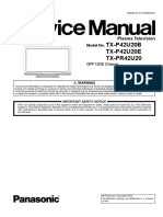 Panasonic TX-P42U20E Service Manual