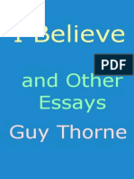 """""""I Believe"""" and other essays"""