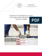 Atentas Sugerencias Autoridades Municipales Electas 2018