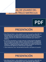 Manual de Usuario Del Sistema Trilce Matricula - Exposicion
