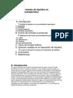 Protocolo de Manejo de Líquidos en Pacientes