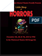 Little Shop of Horrors Poster T-shirt Design Oct. 31