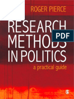 Research Methods in Politics – a Practical Guide