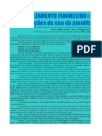 Planejamento Financeiro MPE Ou Doméstico