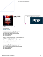 New Divide Letra - Linkin Park