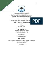 Operación Unitaria - Fundición