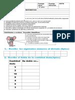 Matematicas (N°hasta 50, problemas , el doble de)