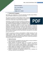 Proyecto Pedagogico 3 Año, Diseño y Desarrollo de Proyectos