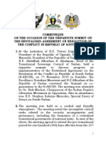 COMMUNIQUE ON RESOLUTION OF THE CONFLICT IN REPUBLIC OF SOUTH SUDAN