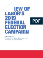 Shorten/Labor Campaign Review 2019