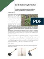 Especialidad Jardineria y Horticultura