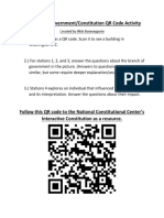 branches of government qr code stations activity