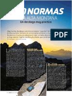 10 normas para la alta montaña