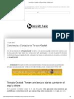 Conciencia y Contacto en Terapia Gestalt - Gestalt Salut