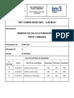 PON-1561_REV-0. MC Fundación F-16. Poste Luminaria
