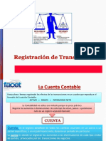 Registro y Control de Transacciones contables.