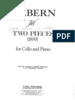 Zwei Stücke für Violoncello & Klavier (1899)