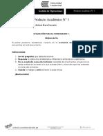 Producto Académico N° 1 Gestión de Operaciones