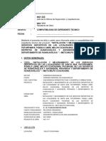 INFORME DE COMPATIBILIDAD ENTRE EL EXPEDIENTE TÉCNICO Y EL TERRENO