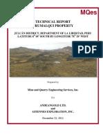 Urumalqui NI 43 101 Report
