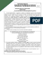 Dispozitie Cu Privire La Activitatea Individuala a Studentului La Disciplina Pediatrie