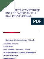 DISEÑO DE TRATAMIENTO DE LÍNEA DE FANGOS EN UNA EDAR CONVENCIONAL